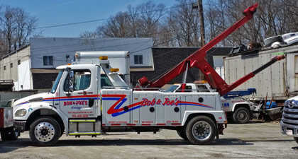 Bob & Joe's Collision Towing truck